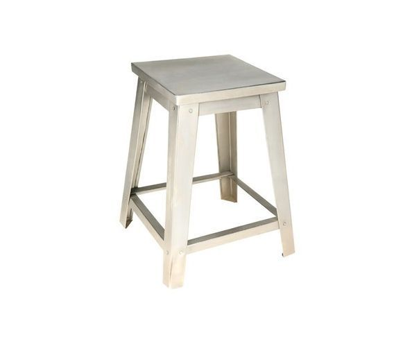Tabouret industriel métal nickel
