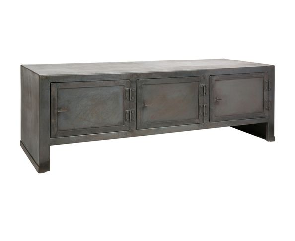 Buffet bas industriel 3 portes sur deco and me - Buffet bas industriel ...