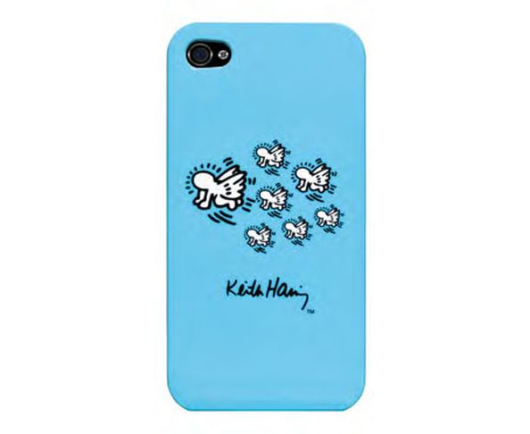 Coque iPhone 4/4S Keith Haring Blue Angels