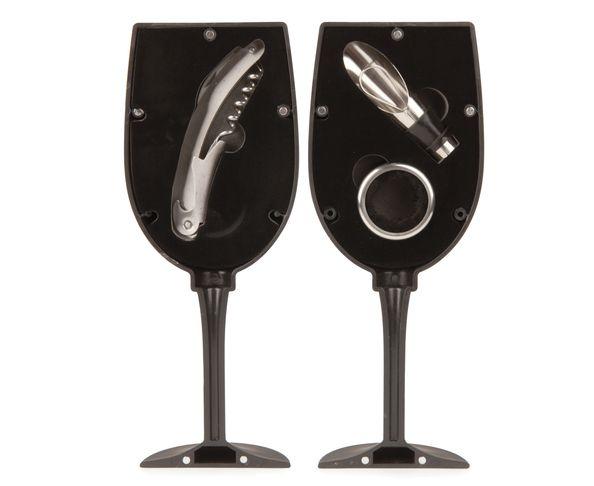 Set à vin - Forme de verre à pied (3 accessoires)