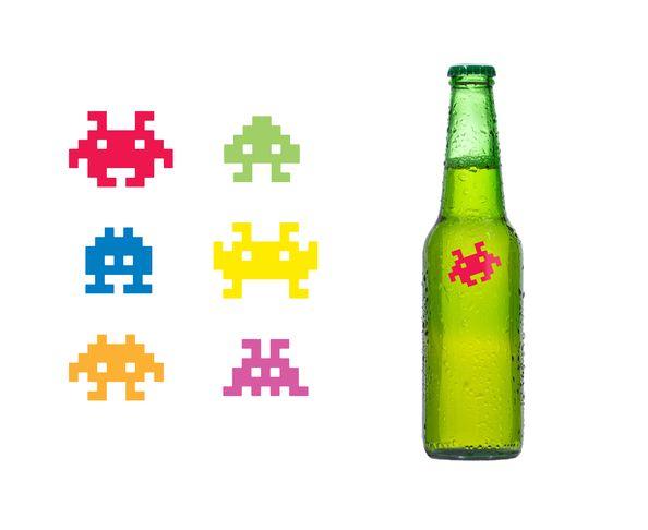 Marqueurs de verres Space Invaders