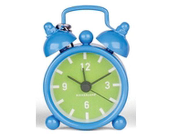 Porte-clés réveil mini bleu