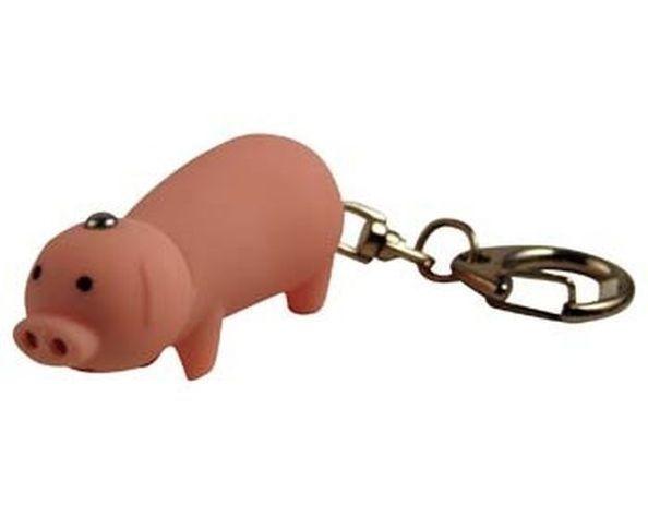 Porte-clefs cochon led