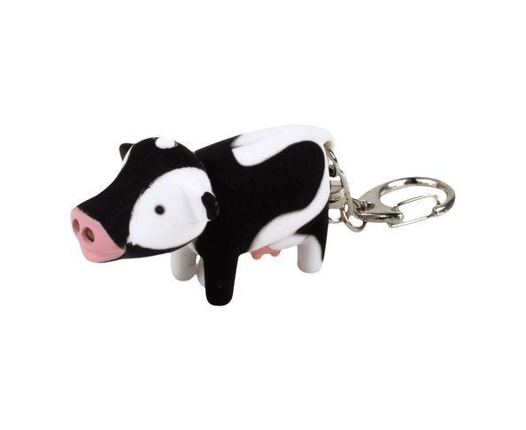 Porte-clefs vache led