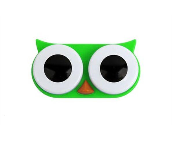 Boîte pour lentilles de contact hibou Vert