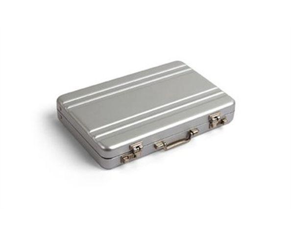 Etui à carte - Mini mallette en aluminium