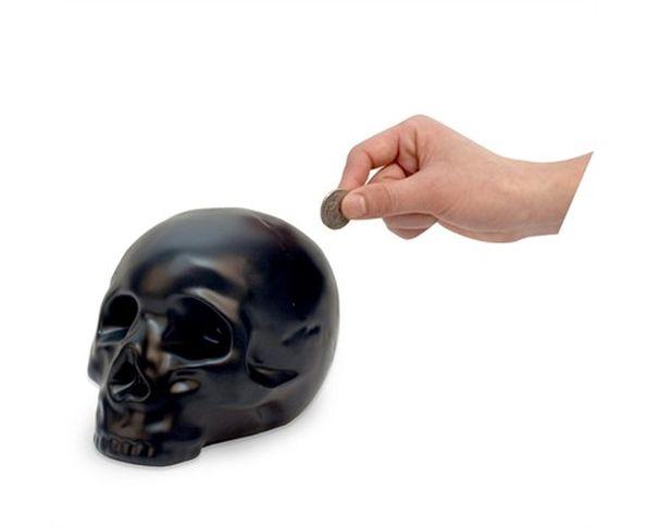Tirelire tête de mort