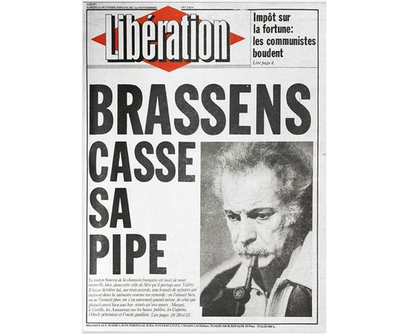 Affiche Libération - Brassens - Tirage argentique - Image Republic