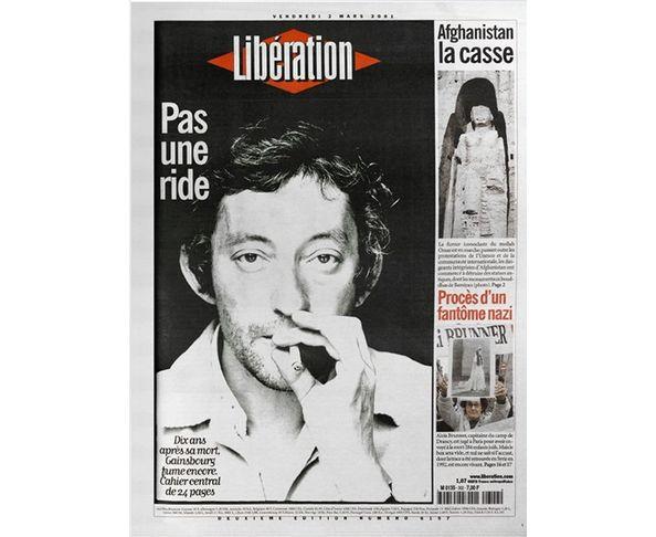 Affiche Libération - Serge Gainsbourg  - Tirage argentique - Image Republic