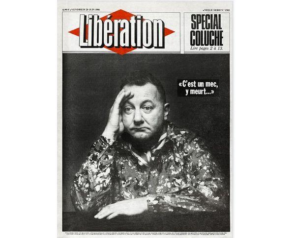Affiche Libération - Coluche - Tirage argentique - Image Republic
