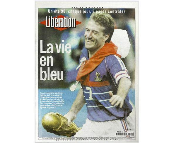 Affiche Libération - Coupe du Monde 1998 - La vie en bleue - Tirage argentique - Image Republic