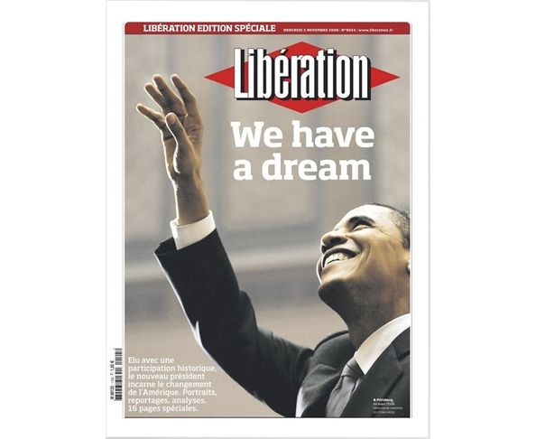 Affiche Libération - Barack Obama - Tirage argentique - Image Republic
