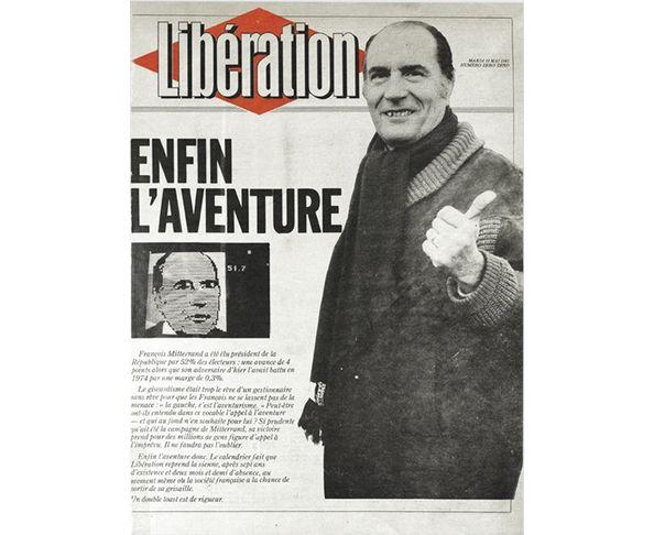 Affiche Libération - Enfin l'aventure - François Miterrand - Tirage argentique - Image Republic