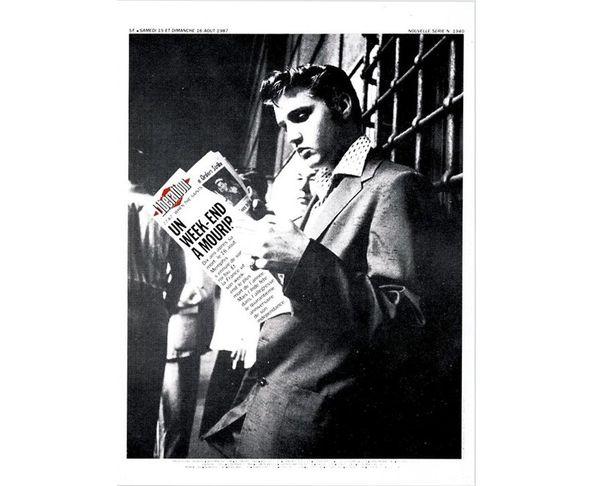 Affiche Libération - Elvis - Tirage argentique - Image Republic