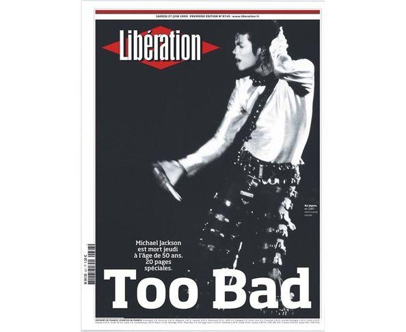 Affiche Libération - Michael Jackson  - Tirage argentique - Image Republic