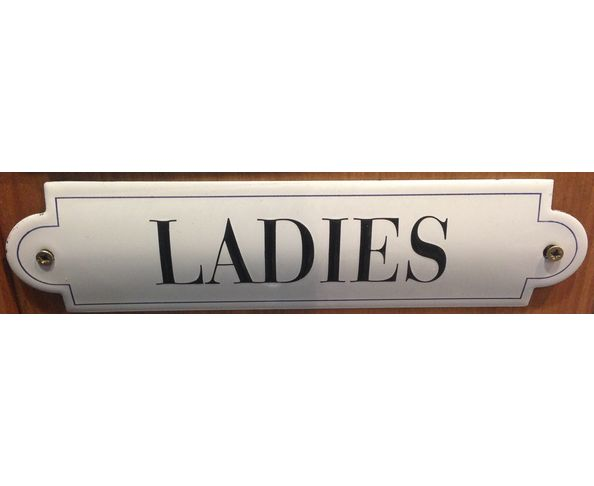 Ladies - 50 x 200 mm - Plaque émaillée relief