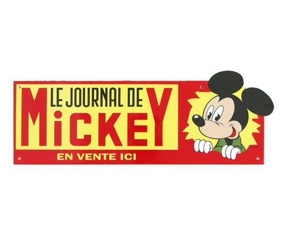 Le Journal de Mickey - Plaque émaillée