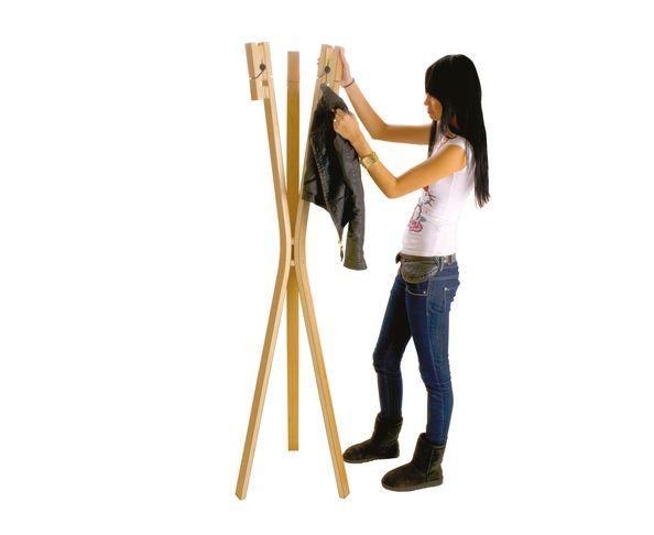 Porte manteau Pince à linges - Clothes Pin bois naturel