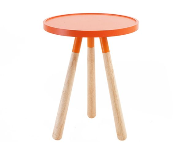 Table d'appoint Orbit orange