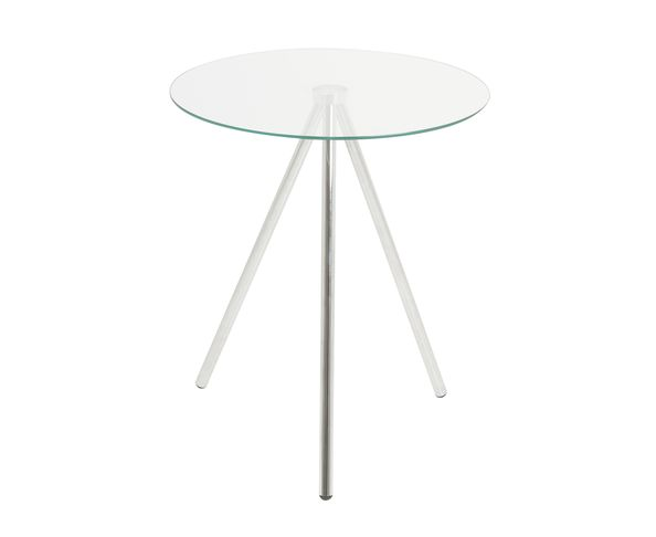 Table d'appoint Tripod métal chrome