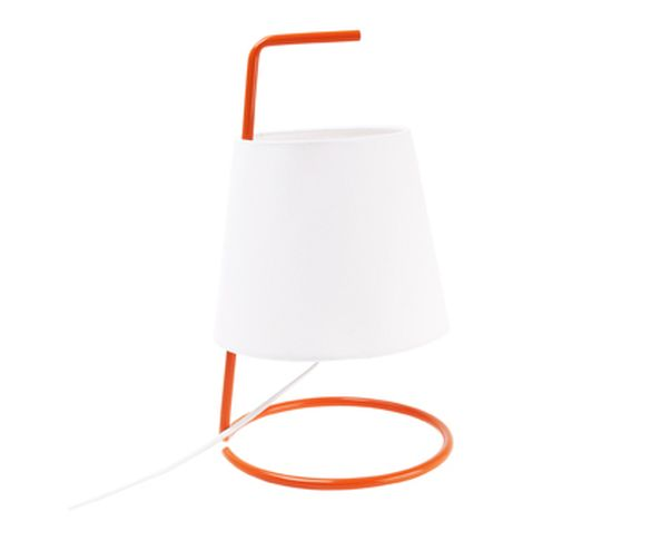 Lampe Take Away en métal orange