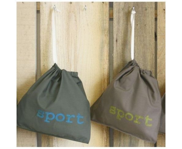 Pochette sport taupe/anis