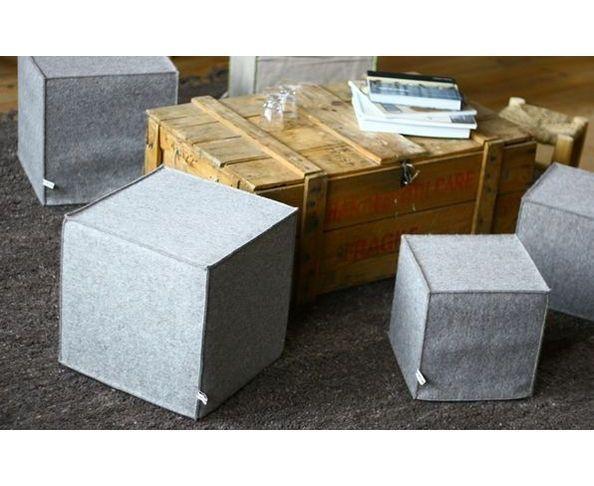 poufs poufs en feutre 24 sur deco and me. Black Bedroom Furniture Sets. Home Design Ideas