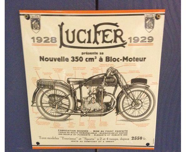 Lucifer moto - Plaque émaillée