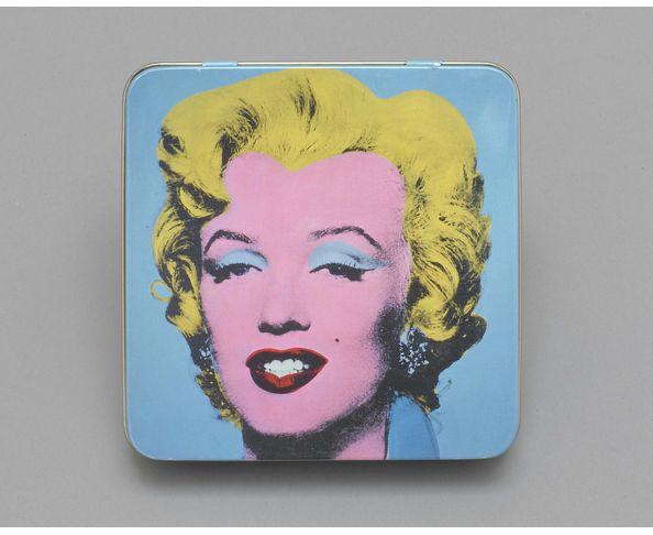 Boite bleue de  9 chocolats personnalisés Marilyn Monroe