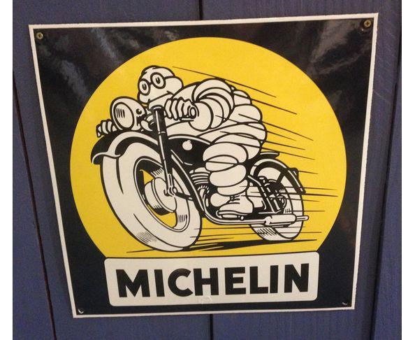 Michelin moto - Plaque émaillée