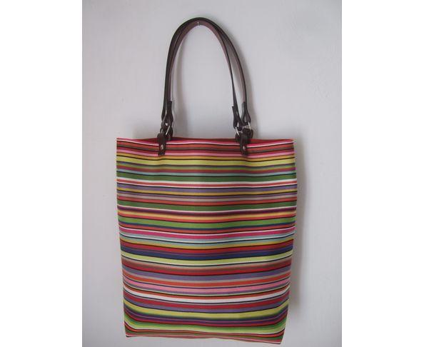 Sac cabas rayures multicolores - Daniela Belfiore