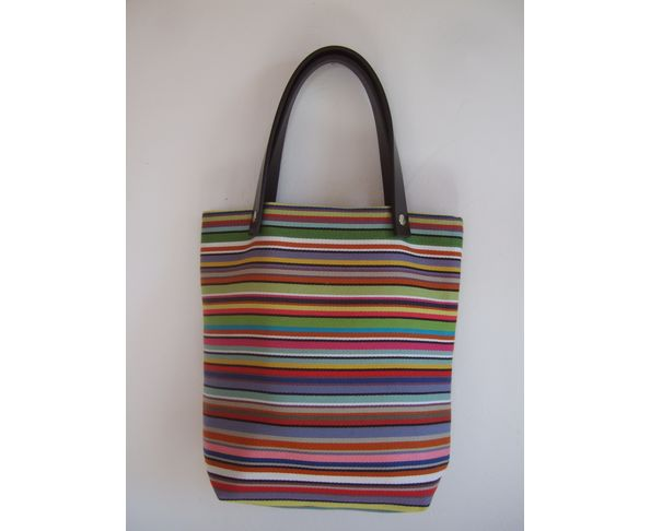 Sac &agrave; main rayures multicolores - Daniela Belfiore 