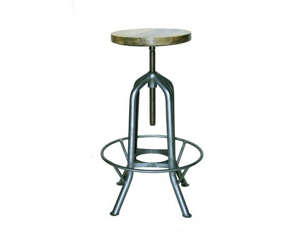 tabouret de bar revolving vis sur deco and me. Black Bedroom Furniture Sets. Home Design Ideas