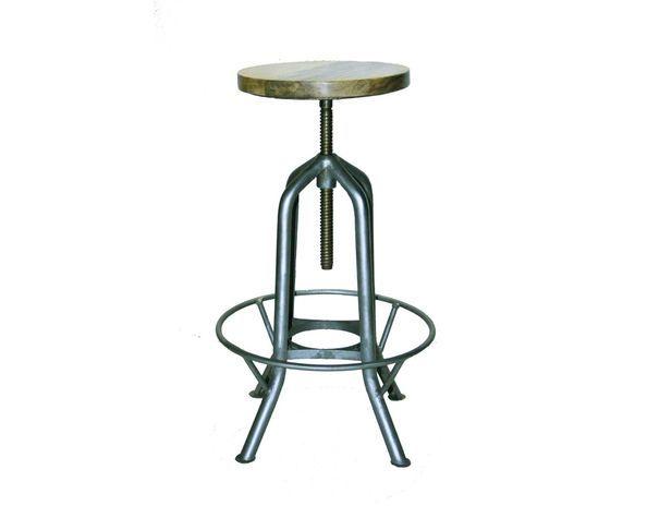 tabouret de bar revolving vis sur deco and me. Black Bedroom Furniture Sets. Home Design Ideas