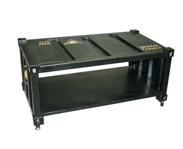 Table basse container noir