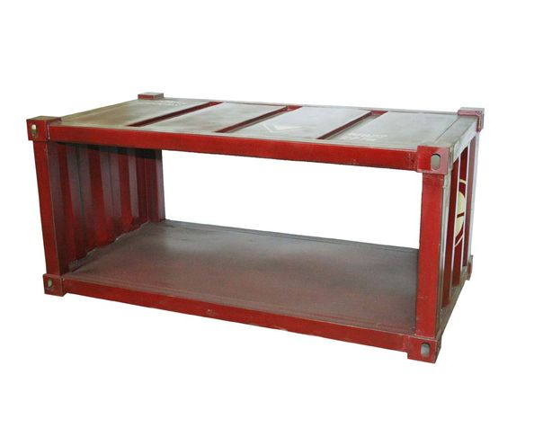 Table basse container Rouge