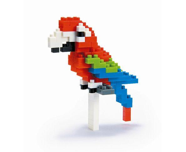 Nanoblock Perroquet Ara rouge et vert