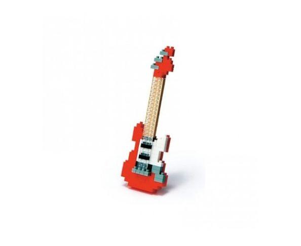Nanoblock Guitare Électrique rouge