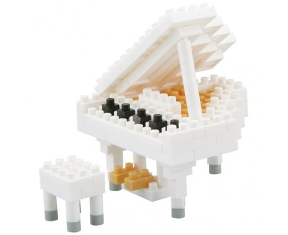 Nanoblock Piano à queue Blanc