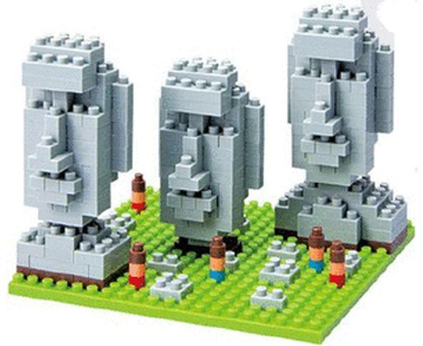 Nanoblock Monument Moai Statues de l''ïle de Pâques