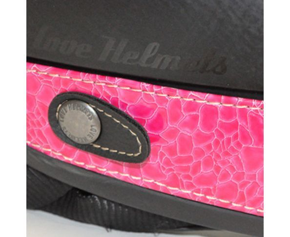 Nuque de casque imitation tortue fuschia