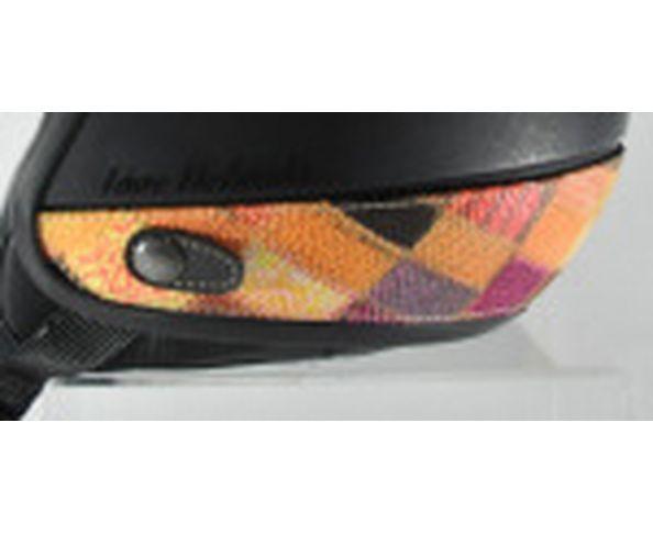 Nuque de casque imitation vipère patchwork