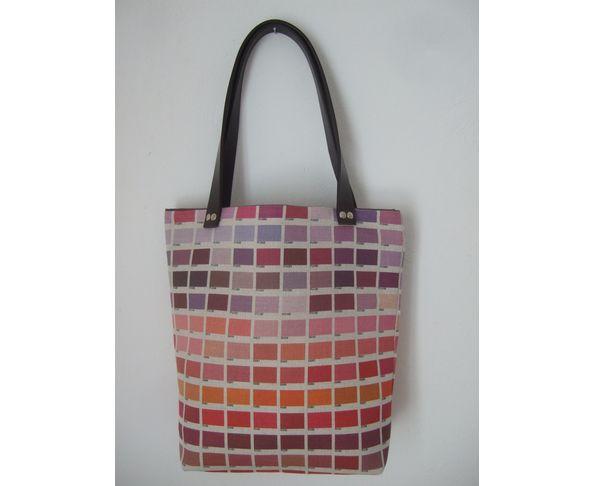 Petit sac cabas nuancier rouge rose - Daniela Belfiore