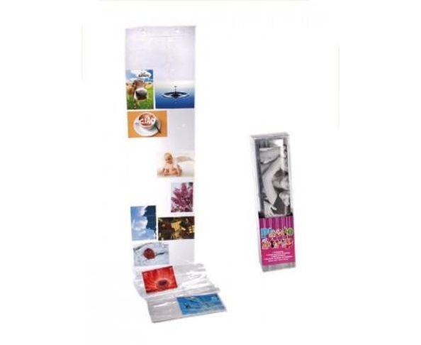 Pochette photo en matière plastique, env. 195 x 27 cm, taille de photo: 15 x 10 cm