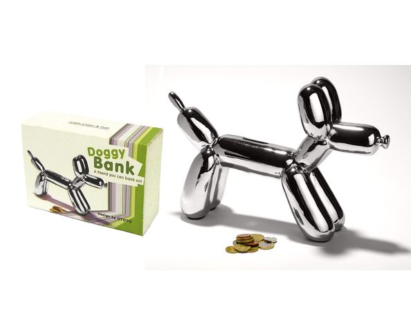 Tirelire Doggy Bank Argent - Tirelire chien d'AOC