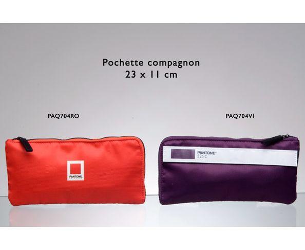 Pochette Pantone compagnon 23x11 cm violet
