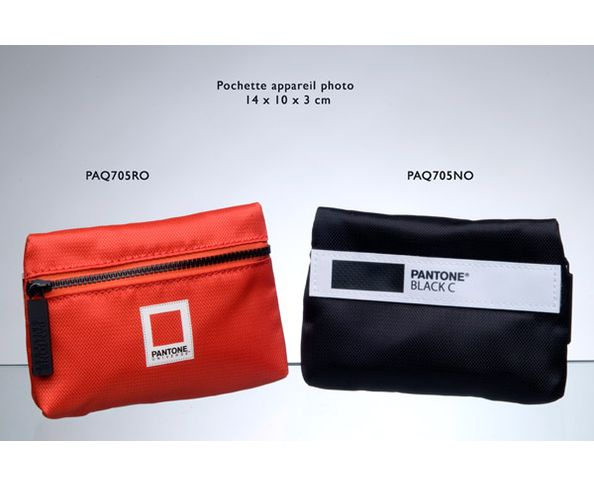 Pochette camera Pantone 14x10x3 cm rouge