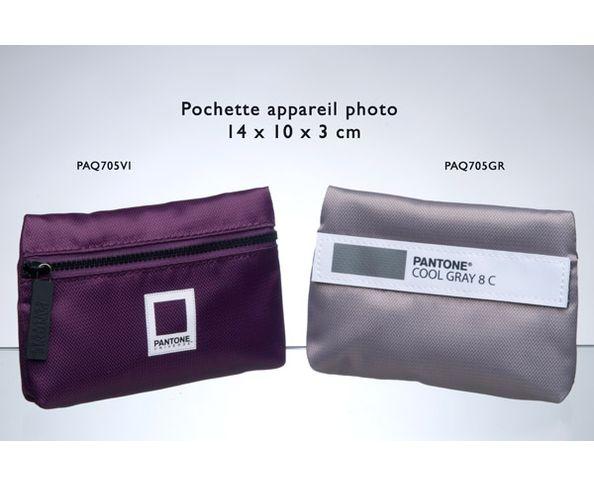 Pochette Pantone camera 14x10x3 cm violet