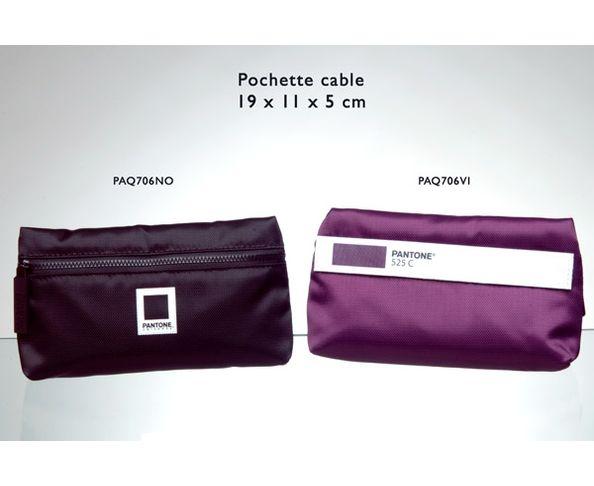 Pochette Pantone cable 19x11x5 cm violet