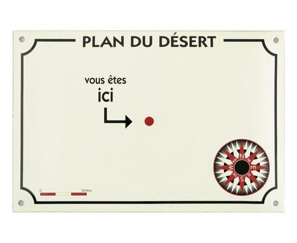 Plan du Désert - Plaque émaillée